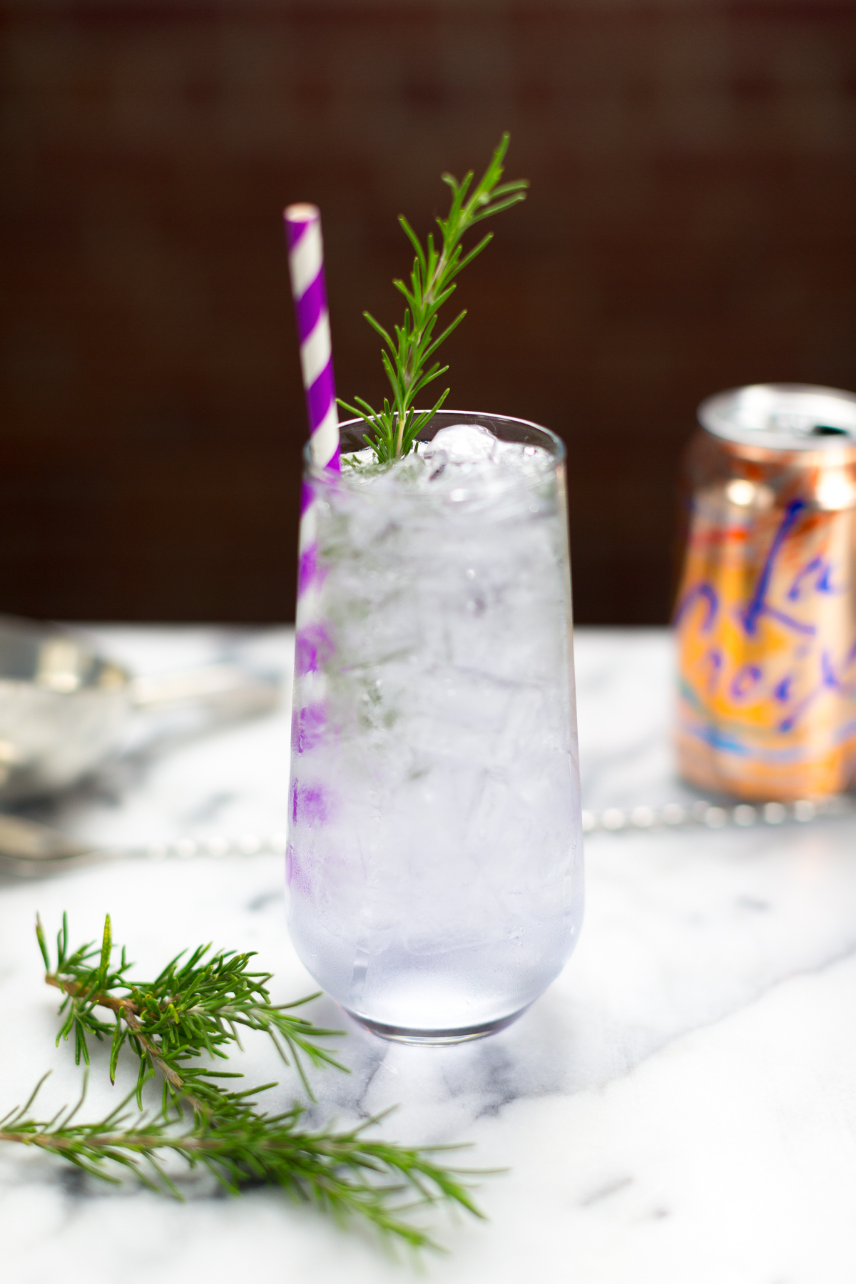 Sparkling Lavender Vodka With Rosemary