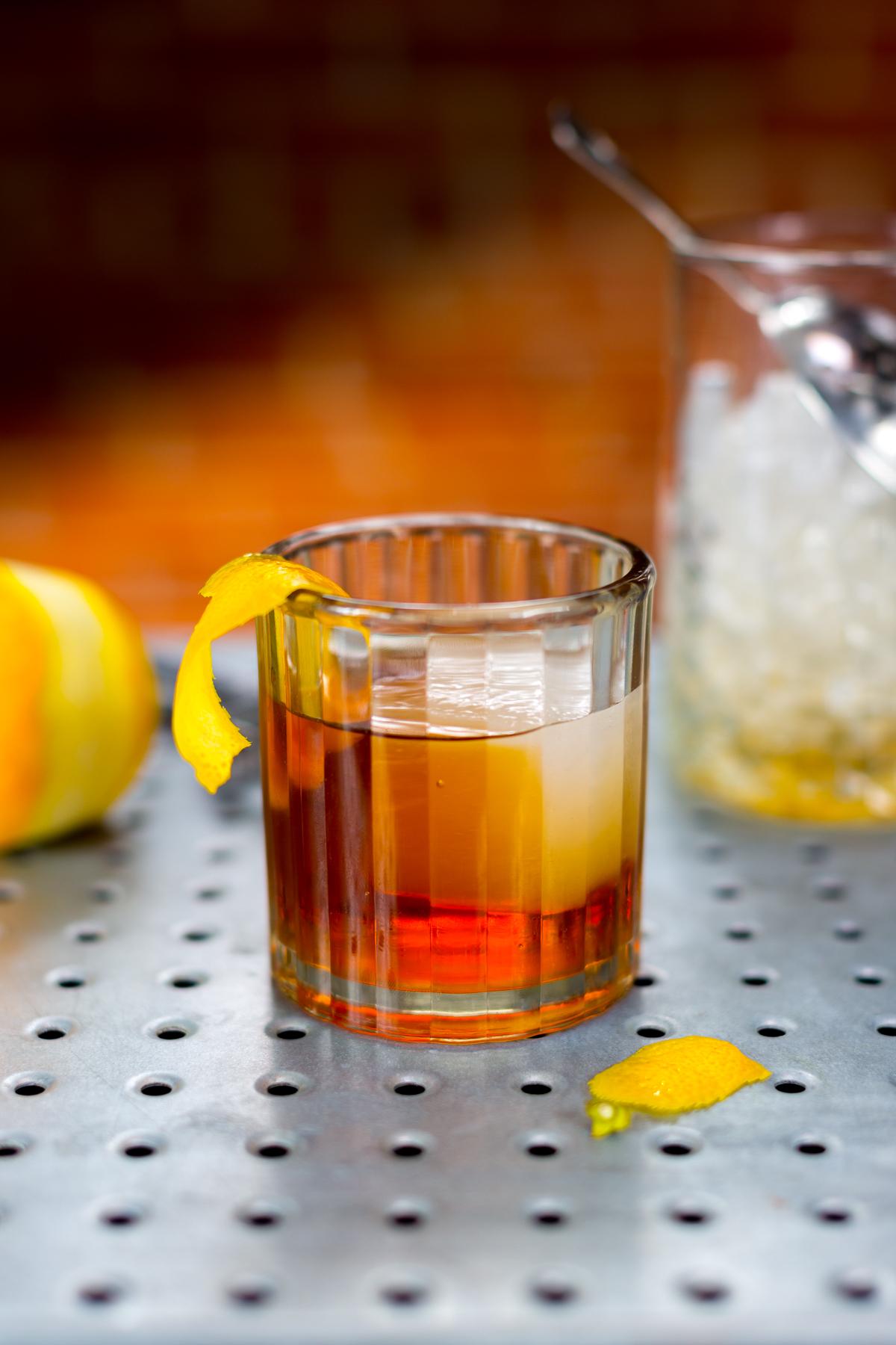 Elk Rider Rye Whiskey Maple Walnut Old Fashioned