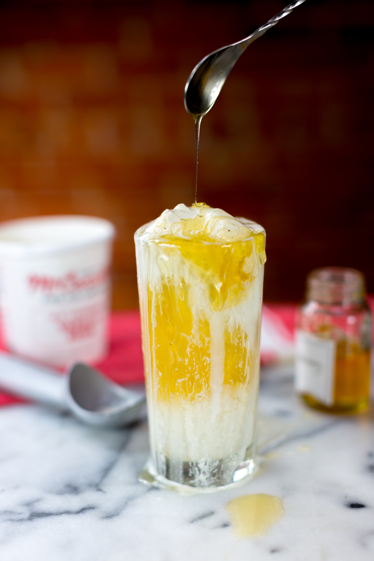 Brown Sugar Bourbon Apple Cider Float