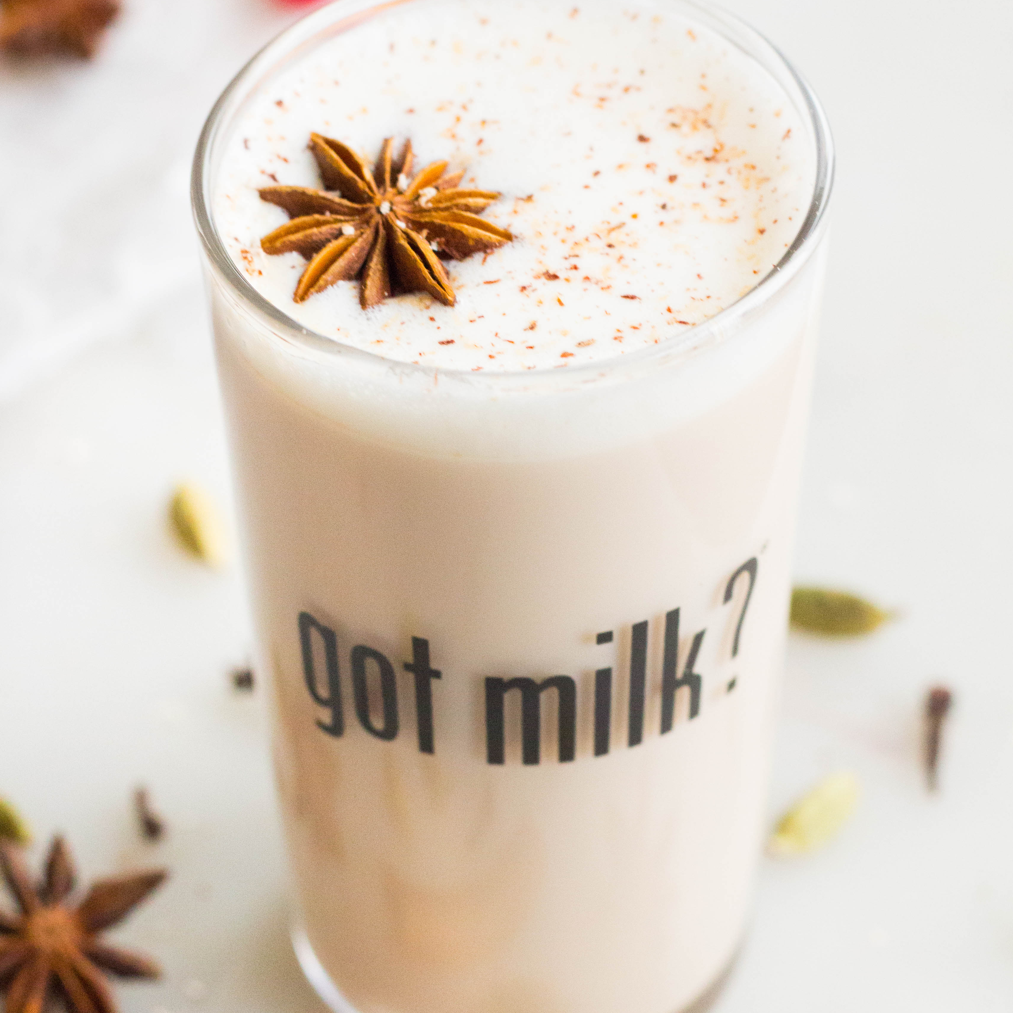 Maple Chai Spiced Milk Cocktail