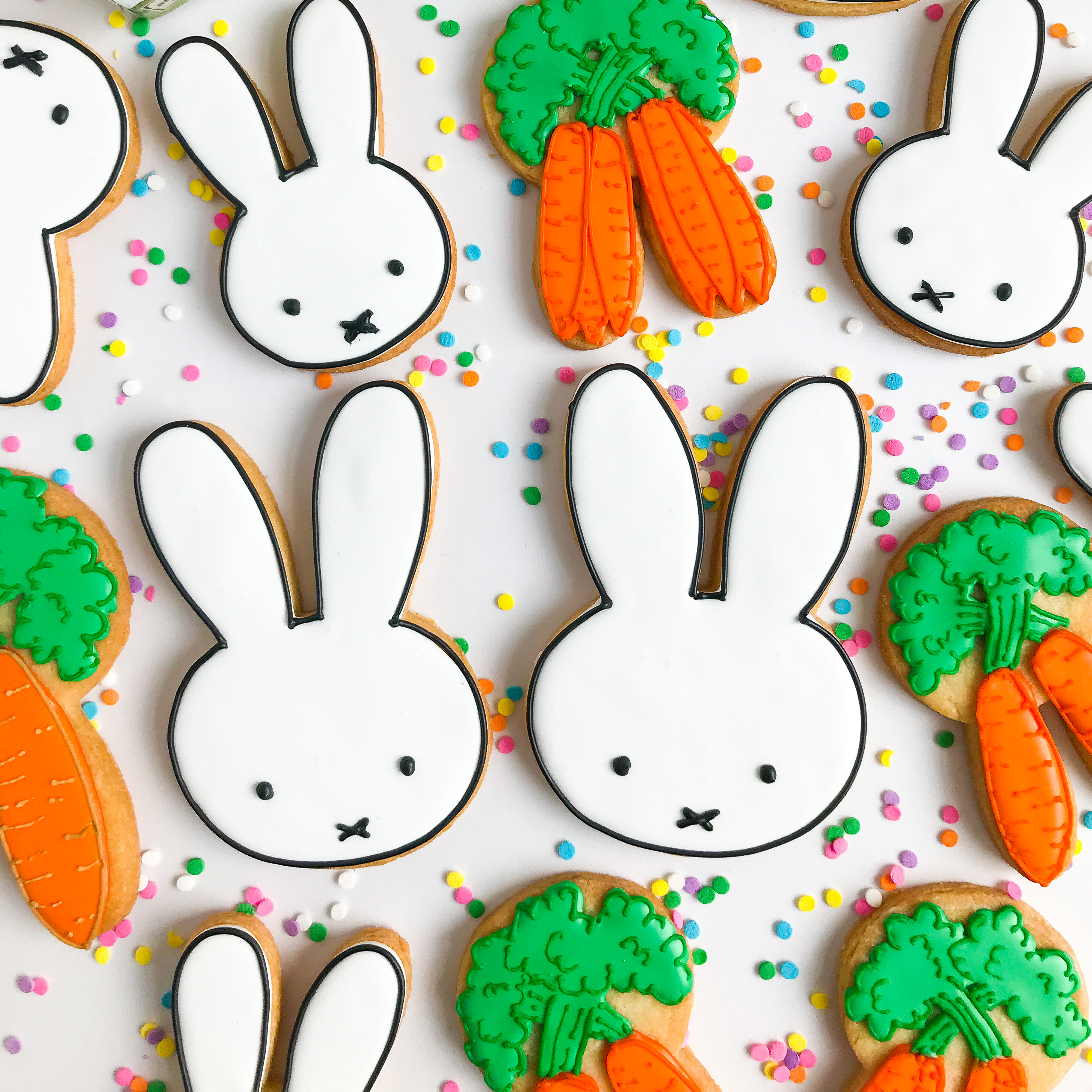 Bunny And Carrot Sugar Cookies