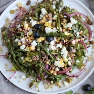 Healthy Green Smoothie Bowl & Summer Salad