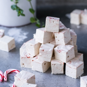 Peppermint Swirl Marshmallows