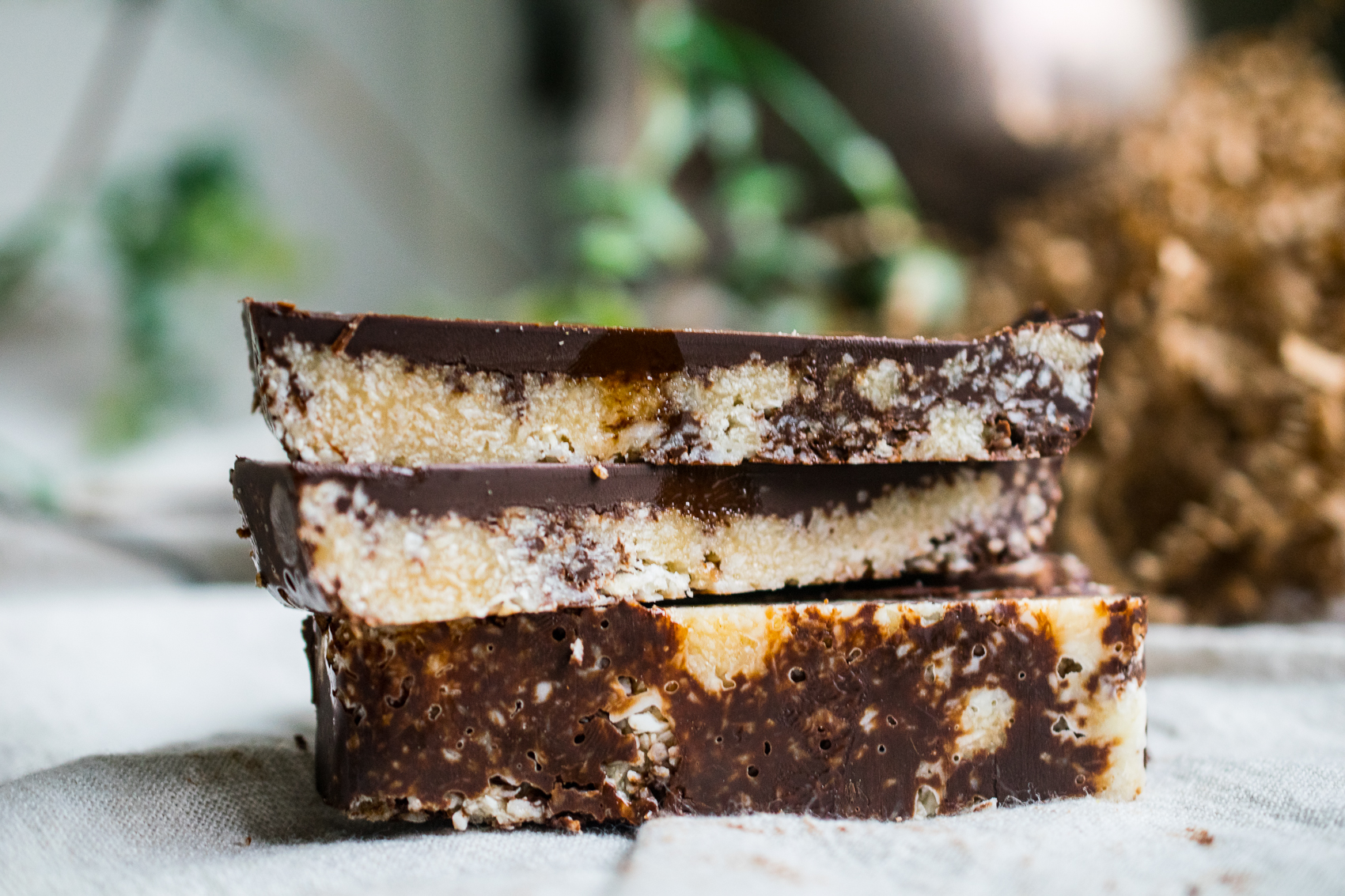 Paleo Coconut Caramel Slices