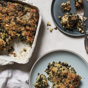 Brown Rice and Kale Gratin