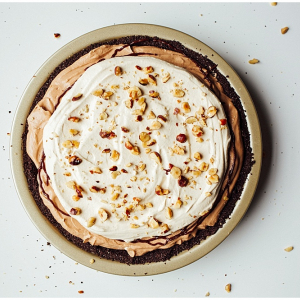 Chocolate Mocha Hazelnut Cream Pie